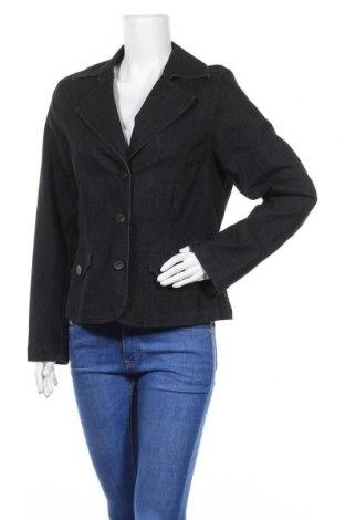 Дамско сако Ms Mode, Размер L, Цвят Черен, 81% памук, 17% полиестер, 2% еластан, Цена 16,38лв.