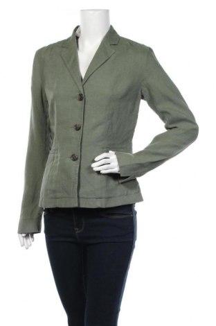 Дамско сако Peter Hahn, Размер M, Цвят Зелен, Лен, Цена 24,99лв.