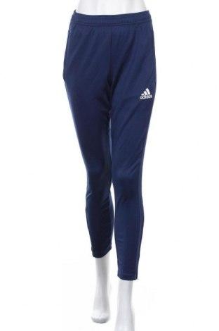 Дамско спортно долнище Adidas, Размер S, Цвят Син, Полиестер, Цена 33,60лв.