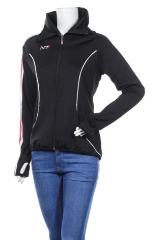 Дамско спортно горнище, Размер L, Цвят Черен, 88% полиестер, 12% еластан, Цена 33,00лв.