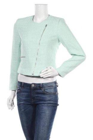 Дамско яке H&M, Размер S, Цвят Зелен, 85% полиестер, 14% акрил, 1% метални нишки, Цена 17,01лв.