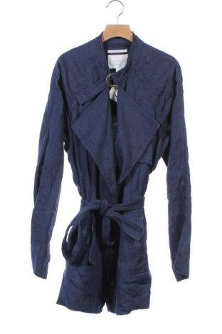 Γυναικείο μπουφάν Trenery, Μέγεθος XS, Χρώμα Μπλέ, 53% λινό, 47% βαμβάκι, Τιμή 5,91€