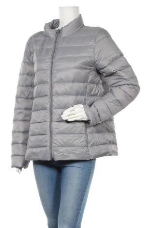 Γυναικείο μπουφάν Up 2 Fashion, Μέγεθος L, Χρώμα Γκρί, Πολυαμίδη, φτερά και πούπουλα, Τιμή 32,02€