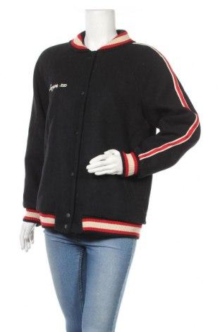 Дамско яке Zara Trafaluc, Размер L, Цвят Син, 57% вълна, 35% полиестер, 8% други нишки, Цена 48,95лв.
