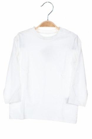 Παιδική μπλούζα H&M, Μέγεθος 9-12m/ 74-80 εκ., Χρώμα Λευκό, Βαμβάκι, Τιμή 7,57€
