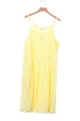 Παιδικό φόρεμα H&M, Μέγεθος 12-13y/ 158-164 εκ., Χρώμα Κίτρινο, 90% πολυεστέρας, 10% ελαστάνη, Τιμή 14,36€