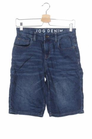 Παιδικό κοντό παντελόνι C&A, Μέγεθος 11-12y/ 152-158 εκ., Χρώμα Μπλέ, 87% βαμβάκι, 7% ελαστάνη, 6% πολυεστέρας, Τιμή 8,77€