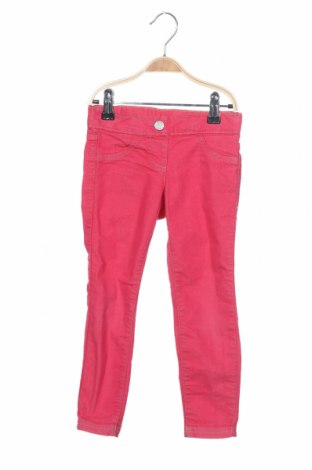 Детски панталон United Colors Of Benetton, Размер 3-4y/ 104-110 см, Цвят Розов, 67% памук, 29% полиестер, 4% еластан, Цена 16,24лв.