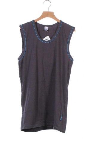 Μπλουζάκι αμάνικο παιδικό Yigga, Μέγεθος 15-18y/ 170-176 εκ., Χρώμα Γκρί, 95% βαμβάκι, 5% ελαστάνη, Τιμή 5,85€