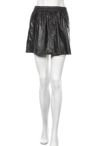 Кожена пола Tom Tailor, Размер S, Цвят Черен, Еко кожа, Цена 4,24лв.