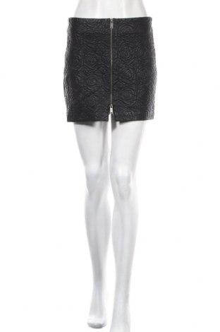 Кожена пола Zara Trafaluc, Размер S, Цвят Черен, Еко кожа, Цена 25,52лв.
