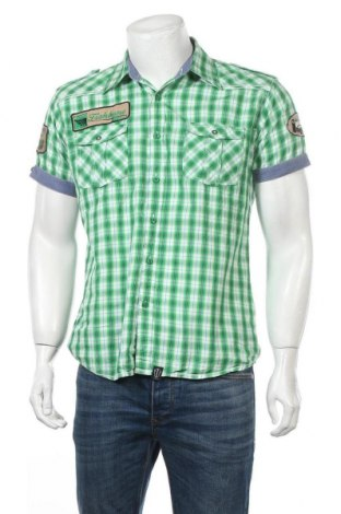 Мъжка риза Fishbone, Размер M, Цвят Зелен, 100% памук, Цена 13,23лв.