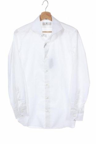 Мъжка риза Massimo Dutti, Размер S, Цвят Бял, Памук, Цена 17,00лв.