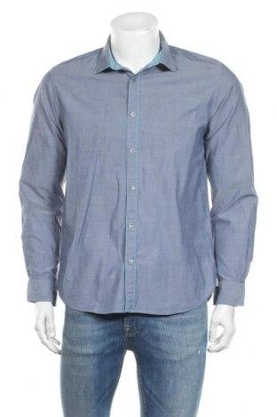 Ανδρικό πουκάμισο Ted Baker, Μέγεθος M, Χρώμα Μπλέ, Βαμβάκι, Τιμή 21,09€