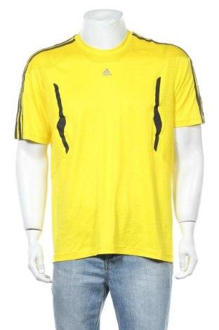 Ανδρικό t-shirt Adidas, Μέγεθος L, Χρώμα Κίτρινο, Πολυεστέρας, Τιμή 12,99€