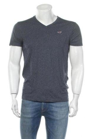 Мъжка тениска Hollister, Размер S, Цвят Син, 60% памук, 40% полиестер, Цена 16,80лв.