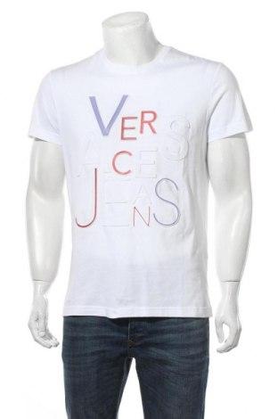 Мъжка тениска Versace Jeans, Размер M, Цвят Бял, Памук, Цена 169,07лв.