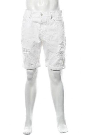 Мъжки къс панталон H&M Divided, Размер L, Цвят Бял, Памук, Цена 15,75лв.
