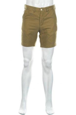 Мъжки къс панталон H&M L.O.G.G., Размер S, Цвят Зелен, 68% памук, 32% лен, Цена 17,00лв.