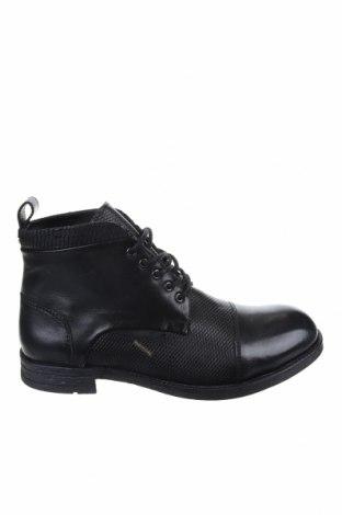 Ανδρικά παπούτσια CAFèNOIR, Μέγεθος 43, Χρώμα Μαύρο, Γνήσιο δέρμα, Τιμή 65,33€