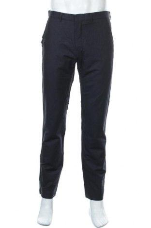 Мъжки панталон H&M, Размер M, Цвят Син, 65% памук, 35% лен, Цена 7,61лв.