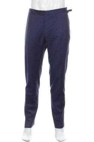 Pantaloni de bărbați Massimo Dutti, Mărime M, Culoare Albastru, Lână, Preț 97,86 Lei