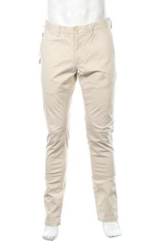 Мъжки панталон Teddy Smith, Размер L, Цвят Бежов, 97% памук, 3% еластан, Цена 41,00лв.