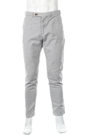 Мъжки панталон Zara, Размер M, Цвят Бял, 47% памук, 33% полиестер, 17% вискоза, 3% еластан, Цена 8,82лв.