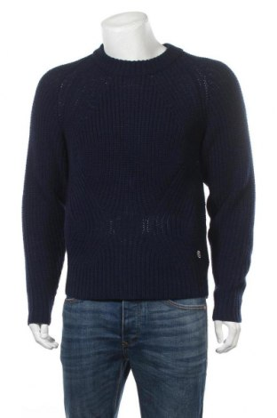 Мъжки пуловер Colmar, Размер M, Цвят Син, 50% акрил, 50% вълна, Цена 85,47лв.