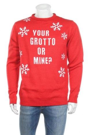 Мъжки пуловер Studio, Размер L, Цвят Червен, Акрил, Цена 20,80лв.