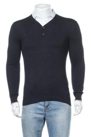Мъжки пуловер Teddy Smith, Размер M, Цвят Син, Памук, Цена 20,80лв.