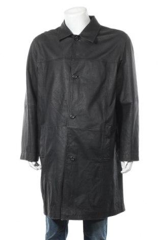 Мъжко кожено яке Angelo Litrico, Размер L, Цвят Черен, Естествена кожа, Цена 25,46лв.
