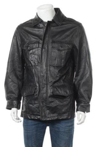 Мъжко кожено яке Danier, Размер S, Цвят Черен, Естествена кожа, Цена 17,64лв.