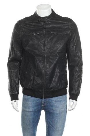 Мъжко кожено яке Maddox, Размер L, Цвят Черен, Еко кожа, Цена 36,91лв.
