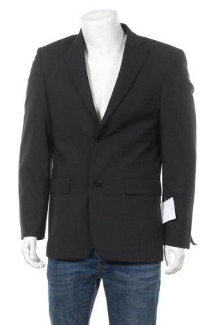 Мъжко сако, Размер M, Цвят Черен, 54% полиестер, 44% вълна, 2% еластан, Цена 12,71лв.