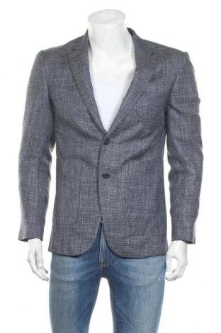 Мъжко сако Burberry, Размер M, Цвят Син, 38% вълна, 35% коприна, 27% лен, Цена 478,80лв.