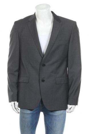 Мъжко сако Hugo Boss, Размер L, Цвят Сив, 100% вълна, Цена 83,30лв.