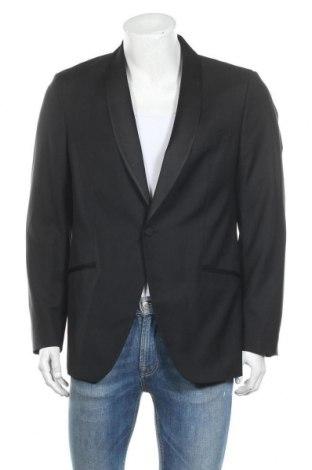Ανδρικό σακάκι Massimo Dutti, Μέγεθος L, Χρώμα Μαύρο, 100% μαλλί, Τιμή 22,41€