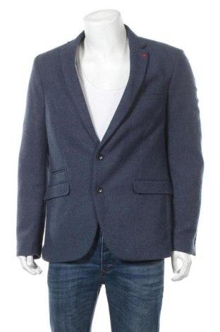 Мъжко сако Montego, Размер L, Цвят Син, 20% вълна, 80% полиестер, Цена 84,00лв.