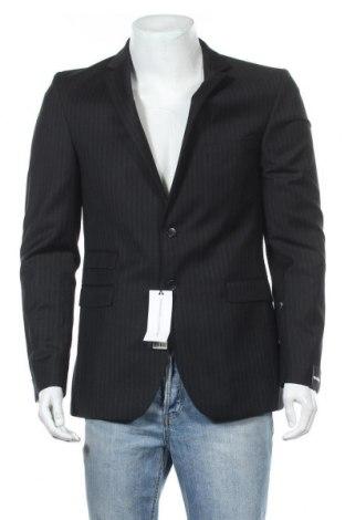 Мъжко сако Strellson, Размер M, Цвят Черен, Вълна, Цена 216,75лв.