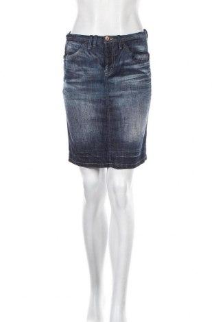 Пола Vero Moda, Размер S, Цвят Син, 98% памук, 2% еластан, Цена 5,79лв.
