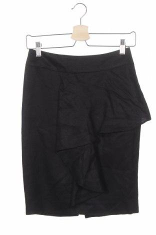 Пола Zara, Размер XS, Цвят Черен, 73% лиосел, 27% лен, Цена 4,47лв.
