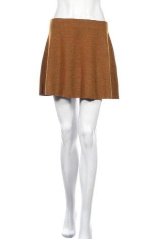Пола Zara Trafaluc, Размер M, Цвят Кафяв, 62% полиестер, 38% вискоза, Цена 10,47лв.