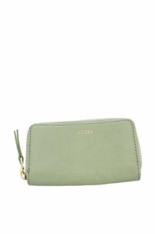 Портмоне Aritzia, Цвят Зелен, Естествена кожа, Цена 36,91лв.