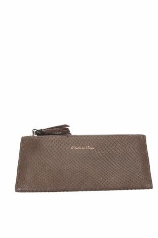 Πορτοφόλι Massimo Dutti, Χρώμα Καφέ, Γνήσιο δέρμα, Τιμή 26,68€
