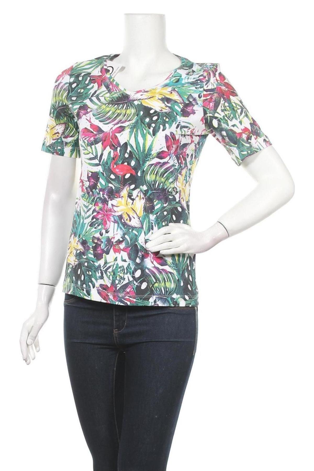Дамска блуза Christian Berg, Размер S, Цвят Многоцветен, 95% памук, 5% еластан, Цена 28,50лв.