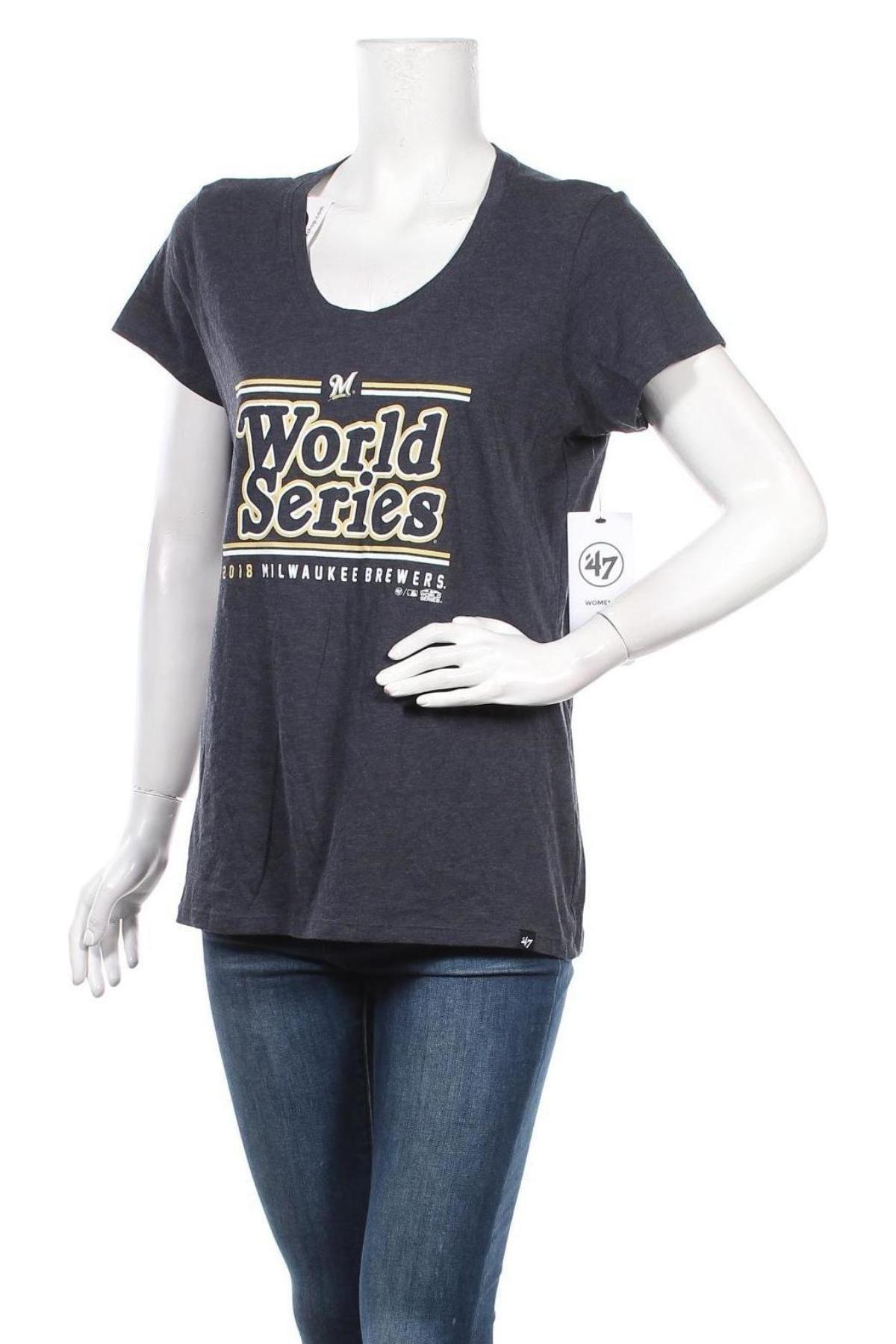 Дамска тениска, Размер L, Цвят Син, 70% памук, 30% полиестер, Цена 14,00лв.