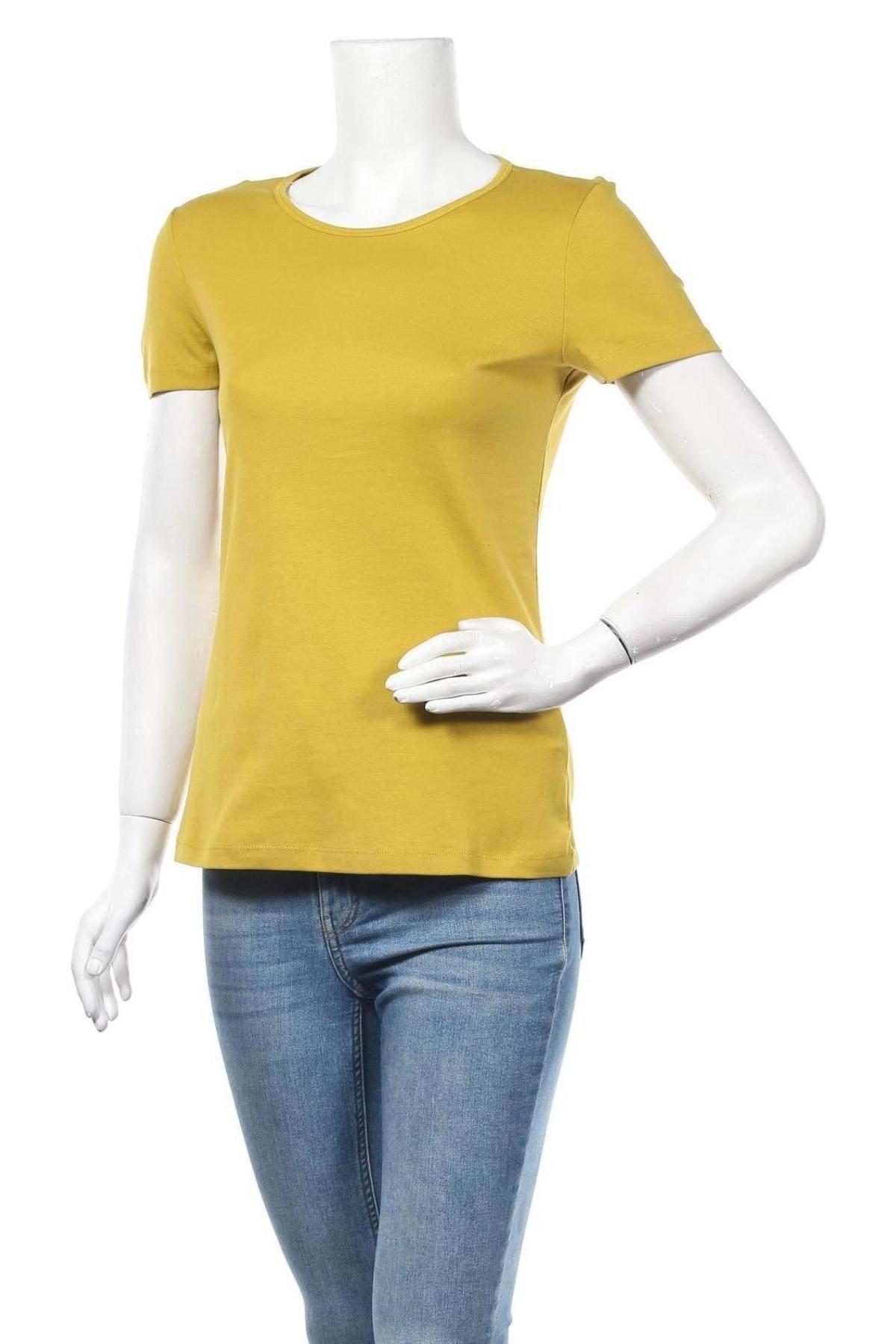 Дамска тениска Montego, Размер M, Цвят Жълт, Памук, Цена 13,00лв.