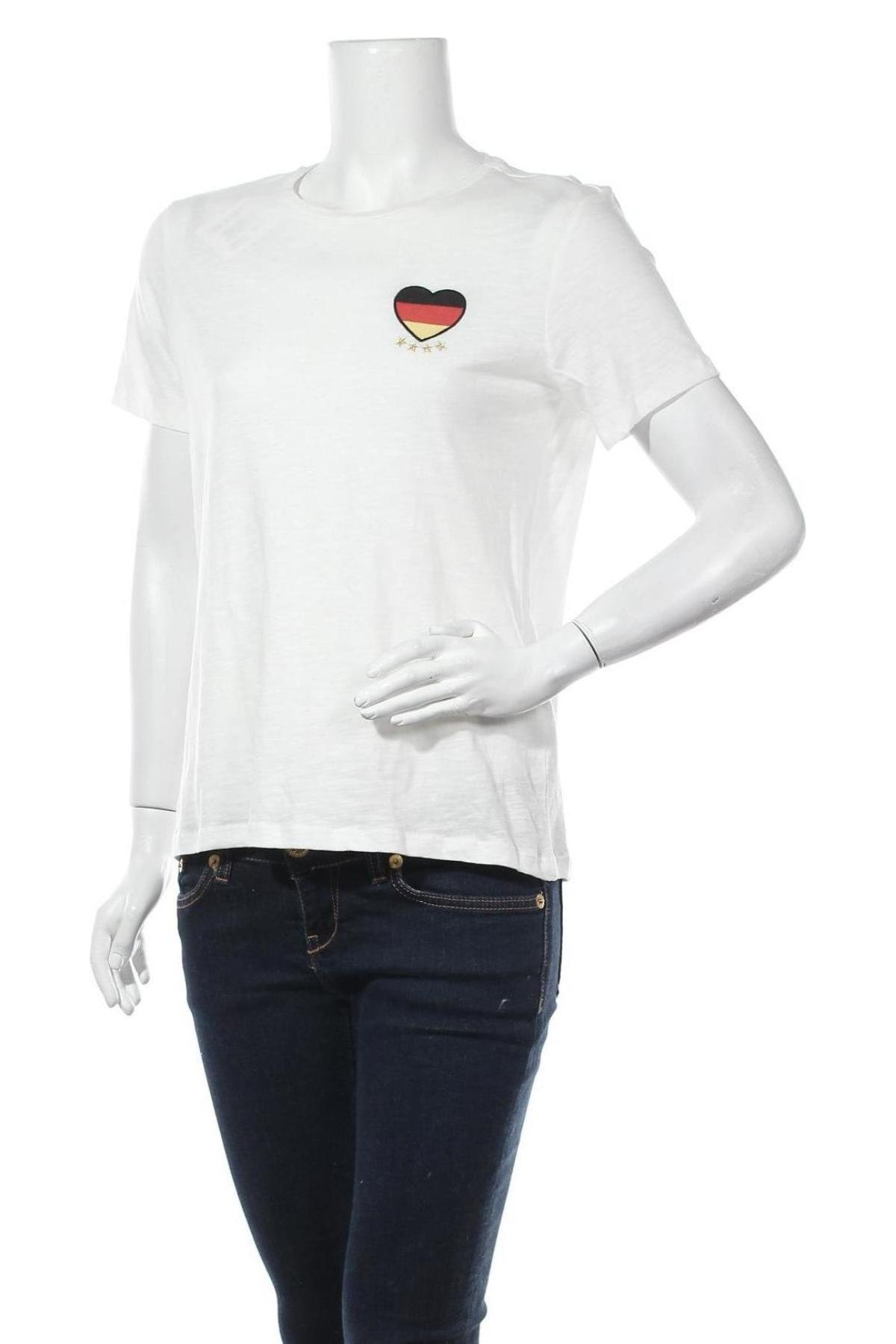 Дамска тениска ONLY, Размер M, Цвят Бял, 100% памук, Цена 19,50лв.