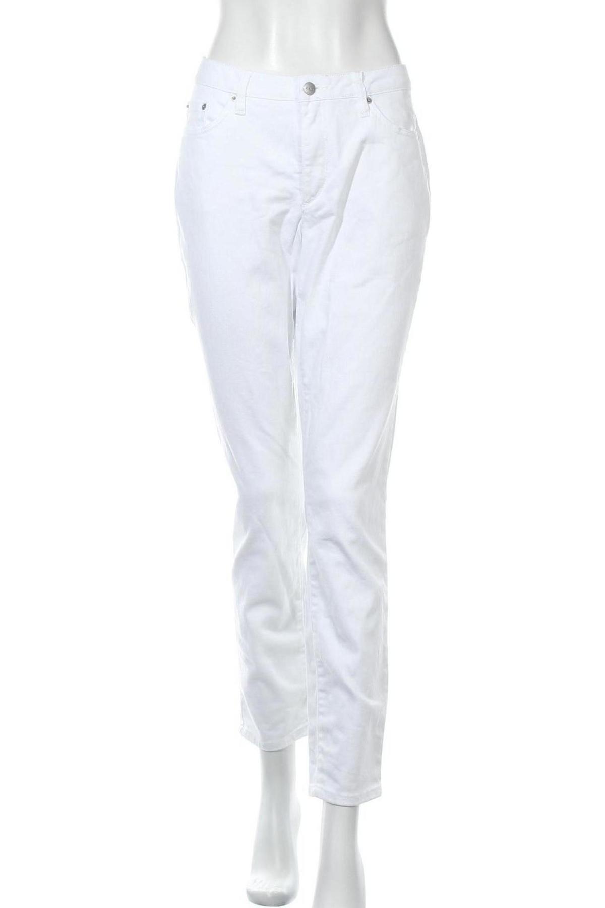 Дамски дънки Aniston, Размер XL, Цвят Бял, 98% памук, 2% еластан, Цена 26,66лв.